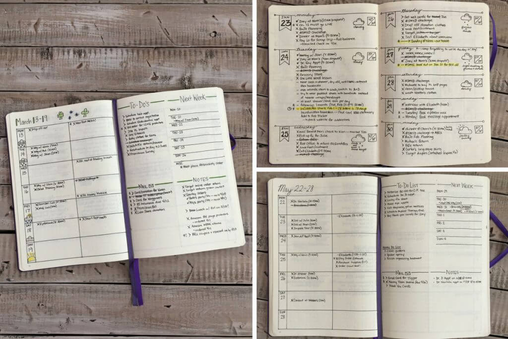 Bullet Journal Tips for Beginners Layouts