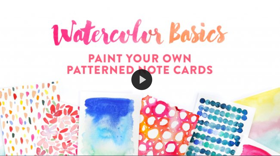 Watercolor Basics Paint Your Own Patterned Note Cards by Julie Meeks on SkillShare