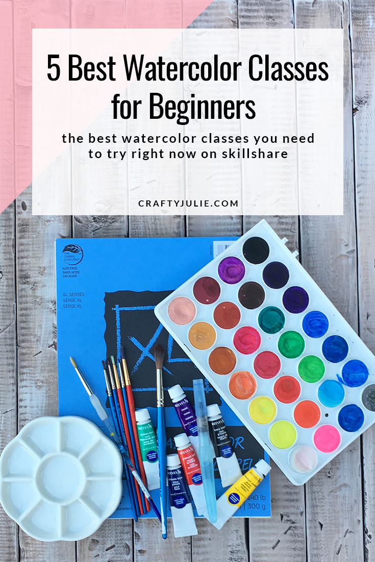 5 Best Watercolor Classes for Beginners on SkillShare - the best watercolor classes you need to try right now