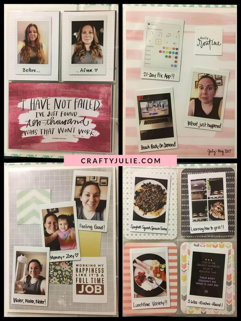 Crafty Julie August 2017 Creative Update One Little Word Layout