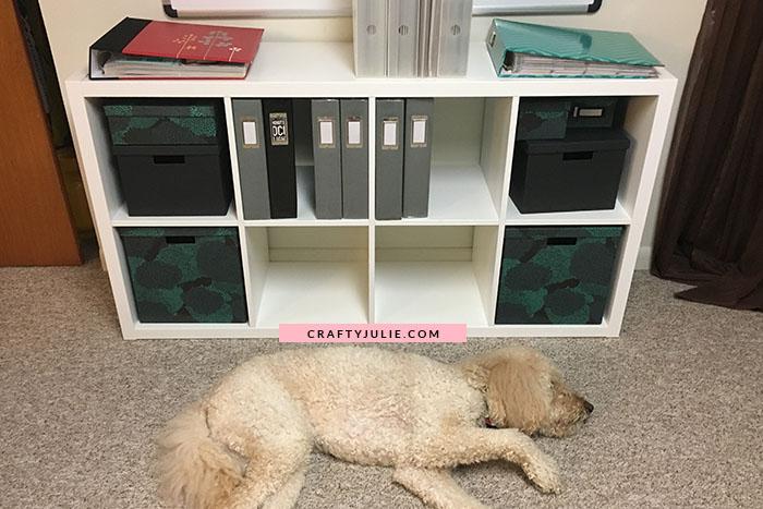 Crafty Julie August 2017 Creative Update Scrapbook Shelves