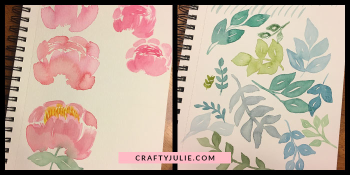 Crafty Julie August 2017 Creative Update Watercolor Project