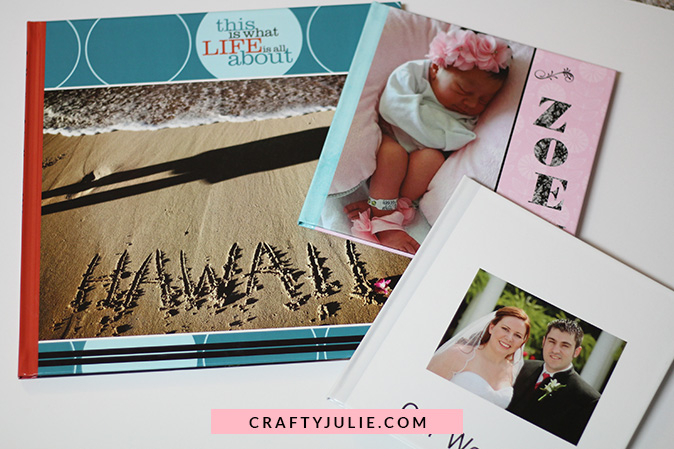 Photobooks printed by Shutterfly