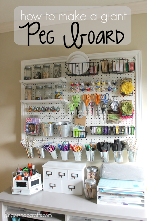 Crafty Julie | 10 Must Have Scrapbooking Organization Products | Peg Board