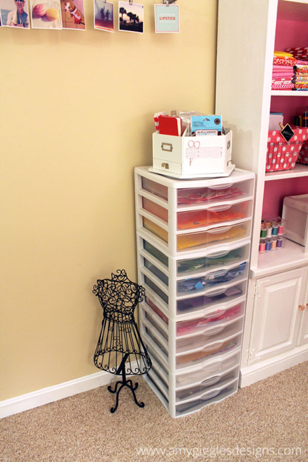 Crafty Julie | 10 Must Have Scrapbooking Organization Products | Plastic Drawers