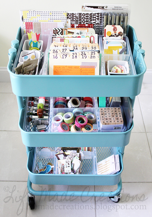Crafty Julie | 10 Must Have Scrapbooking Organization Products | Rolling Craft Cart