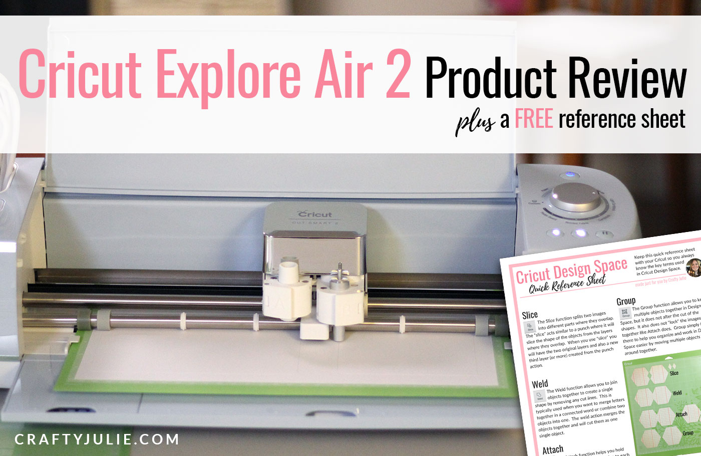 Crafty Julie | Cricut Explore Air 2 Review from a Scrapbooker