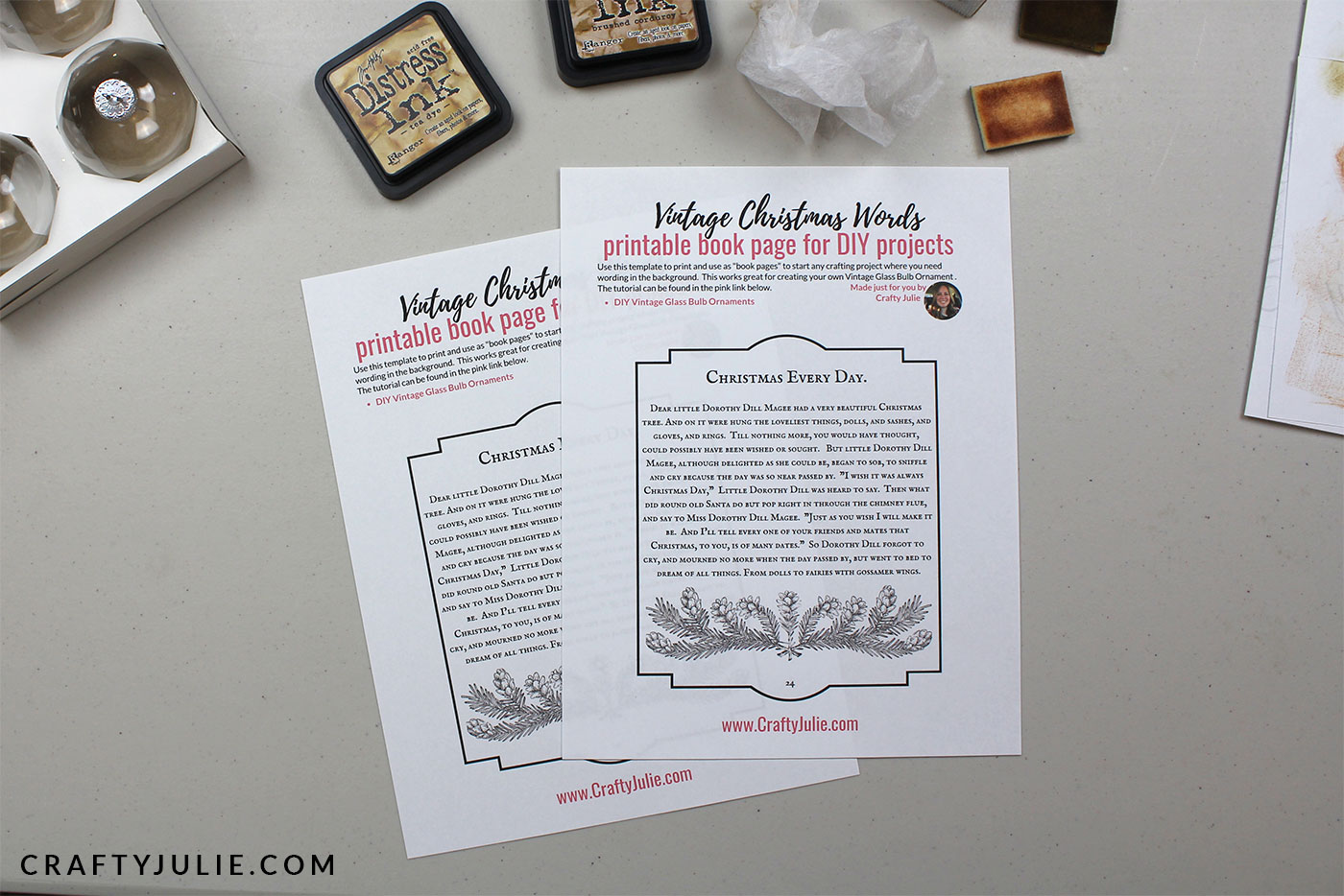 book page printable just printed
