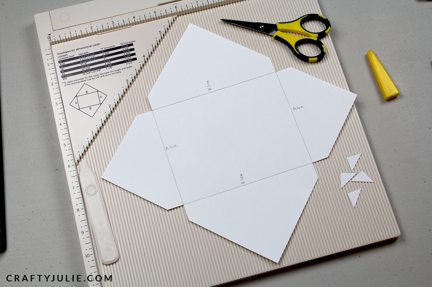 How To Make Your Own Envelopes And Cards Crafty Julie