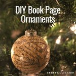 DIY Book Page Ornament | CraftyJulie