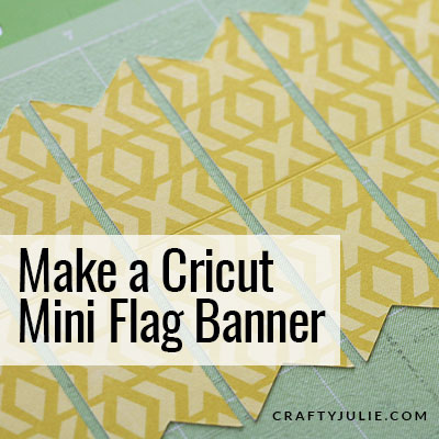 yellow mini flag banner cut on cricut