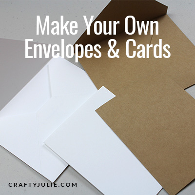 two handmade envelopes and cards