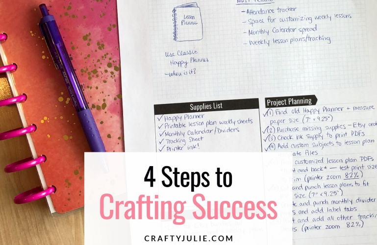 4 steps to crafting success worksheet