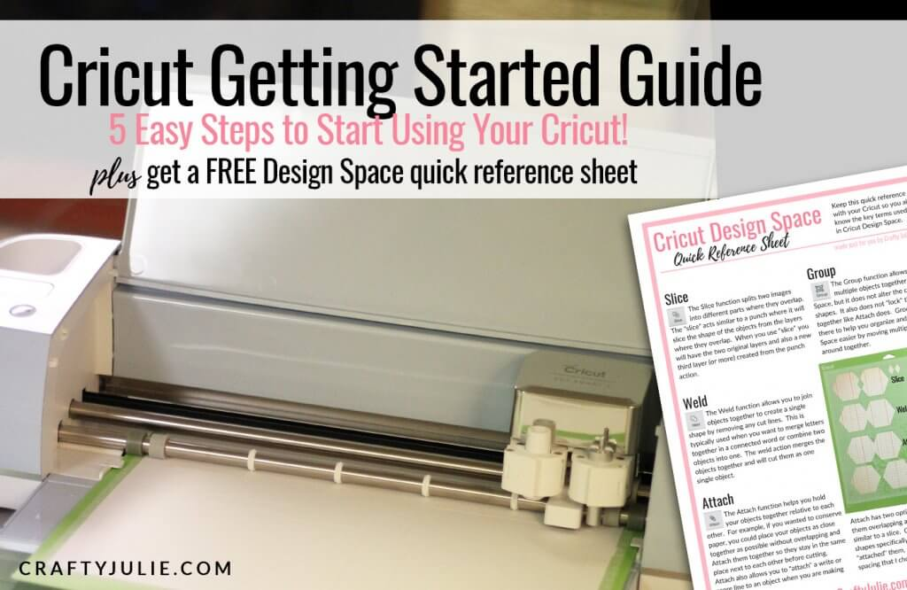 Cricut Getting Started Guide | CraftyJulie