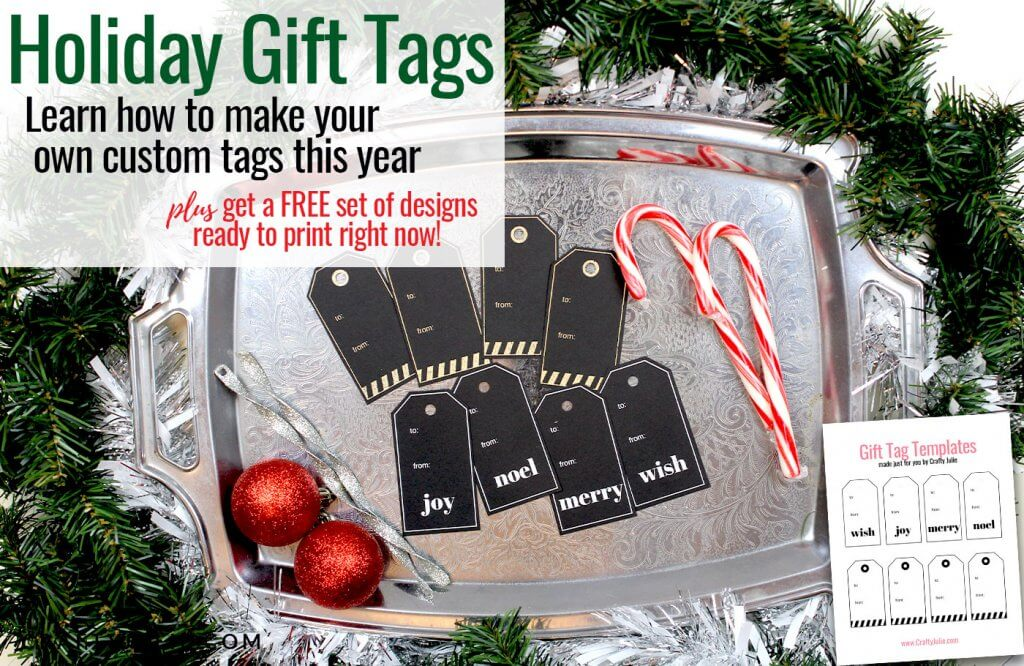 holiday gift tag tutorial plus learn how to make your own custom gift tags and embellish them with foil