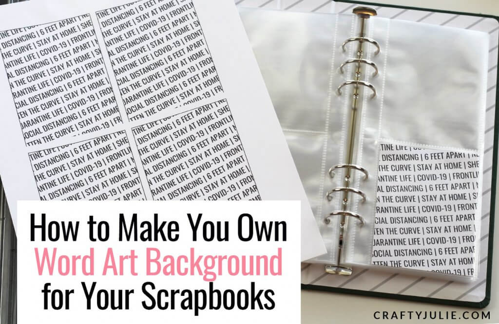 custom word art backgrounds for scrapbooks