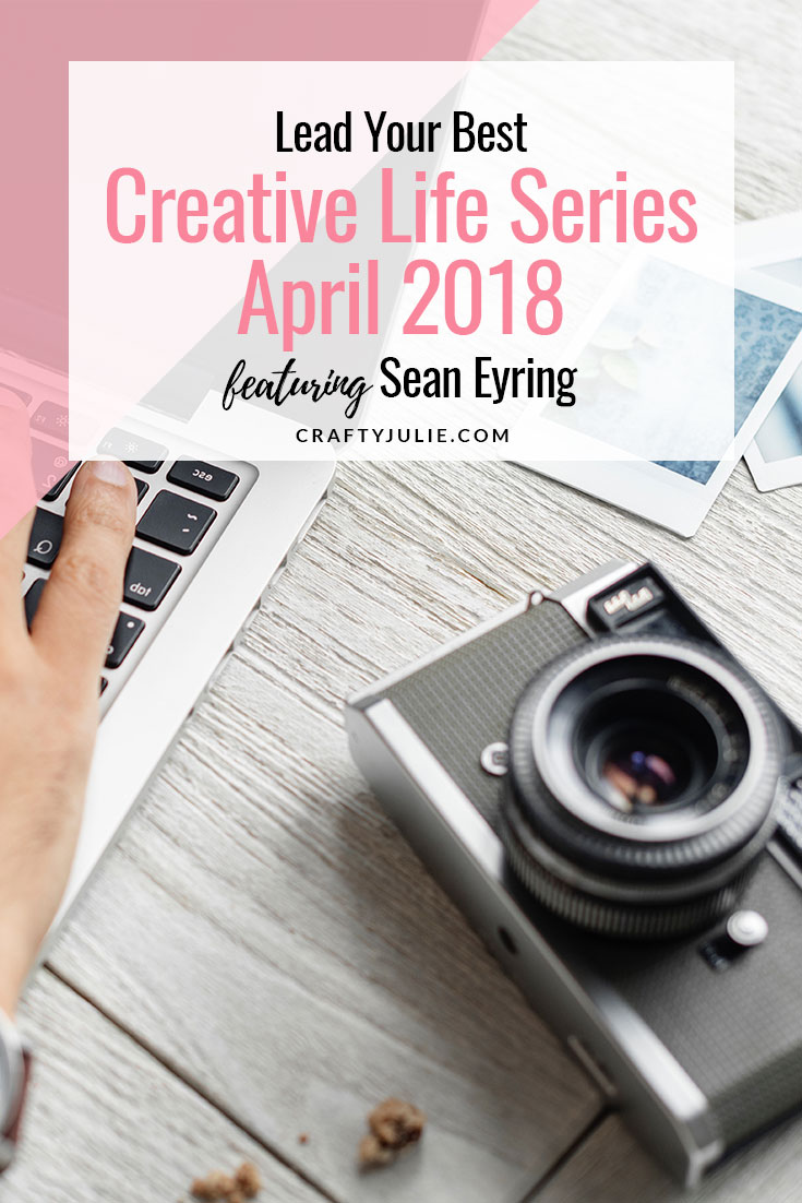 The Lead Your Best Creative Life series feat. Sean Eyring, a scrapbooking dad!  Read how he leads his best creative life through scrapbooking. #scrapbooking #projectlifeapp #leadyourbestcreativelife #craftyjulie