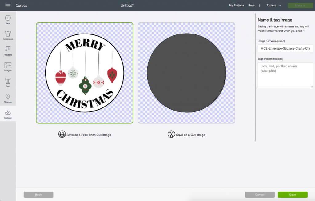Cricut Design Space Custom Image Type
