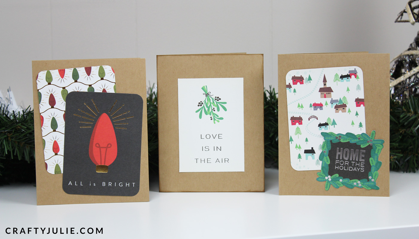 three easy DIY Christmas cards using Project Life kits