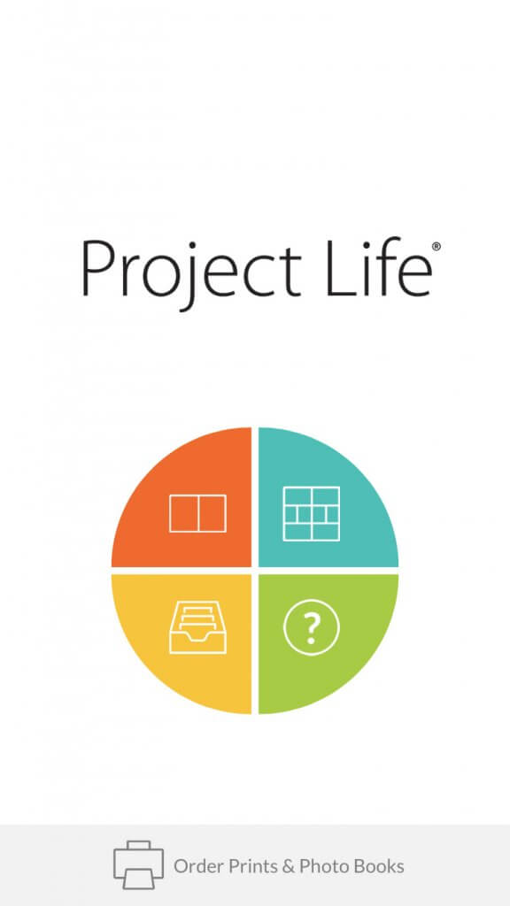 Project Life App Homepage