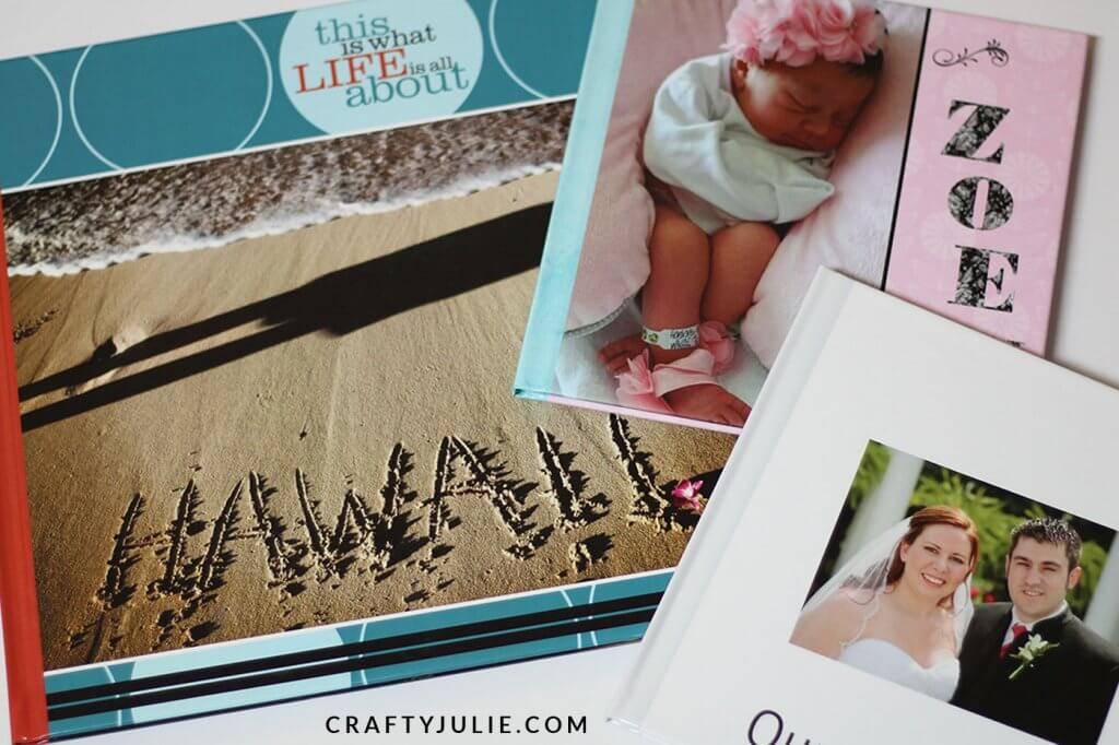 12x12 shutterfly hardcover album and two 8x8 hardcover shutterfly albums