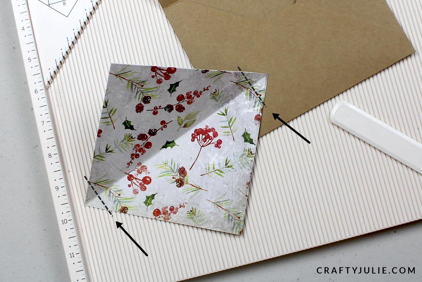 trimming edges of envelope liner insert