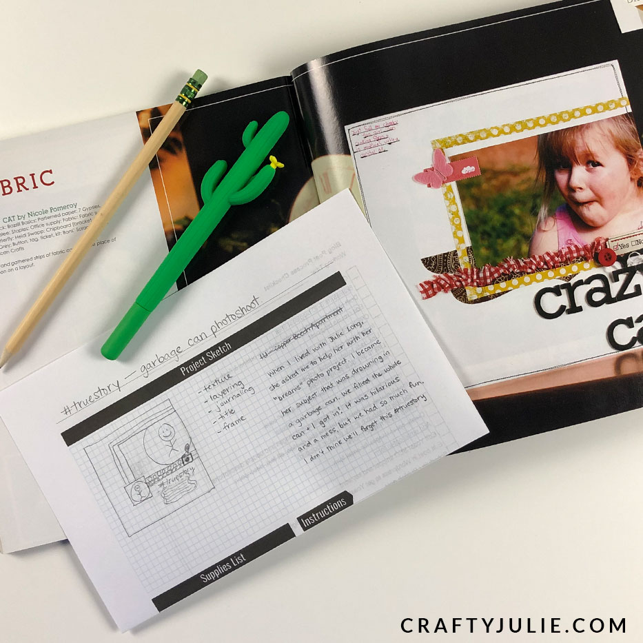 scrapbook layout planning sketch worksheet and scrapbook magazine