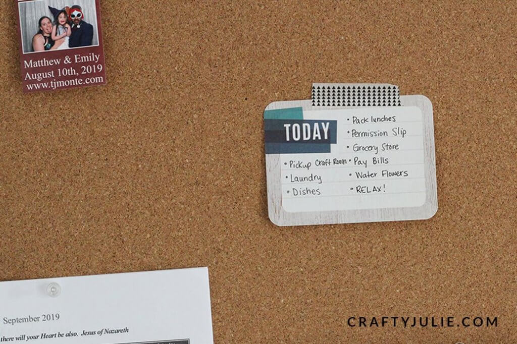 Project Life Card used as a To-Do List on a cork board