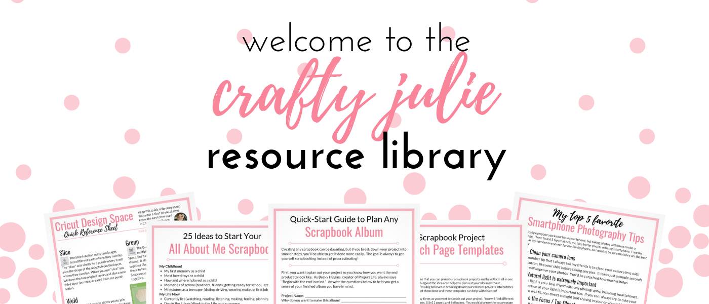 crafty julie resource library full of printables and paper crafting downloads